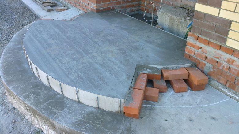 Ступени для крыльца уличные бетонные